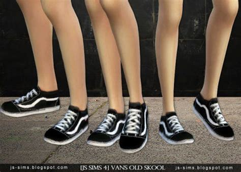 Vans Old Skool Shoes for The Sims 4 | Sims, Sims four