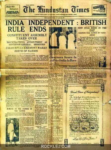 India Independent : British Rule End from The Hindustan